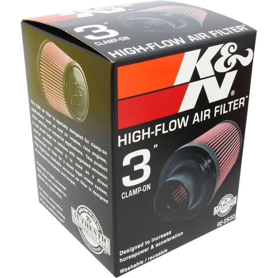 K&N Pod Air Filter - 3 inch, KNRE0930, , scaau_hi-res