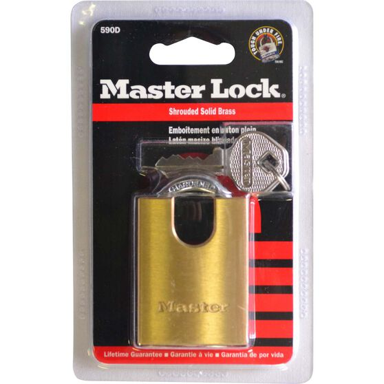 Master Lock Padlock - Shrouded Brass, 40mm, , scaau_hi-res