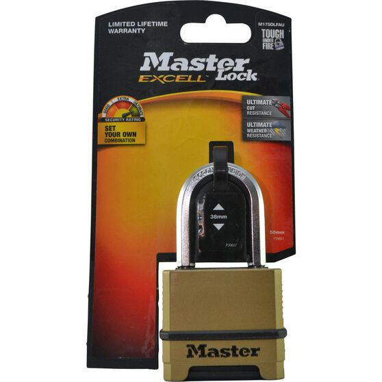 Master Lock Excell Reset Combination - 50mm, 1 Pack, , scaau_hi-res