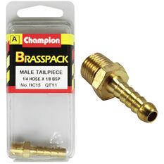 Champion Male Hose Barb - 1 / 4inch X 1 / 8inch, Brass, , scaau_hi-res