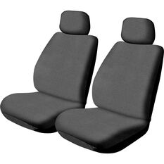 SCA Canvas Seat Covers - Charcoal, Adjustable Headrests, Size 30, Front Pair, Airbag Compatible, , scaau_hi-res