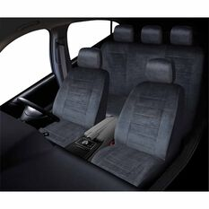 Executive Seat Cover Pack - Grey, Adjustable Headrests, Size 30 & 06H, Front & Rear Pack, Airbag Compatible, , scaau_hi-res