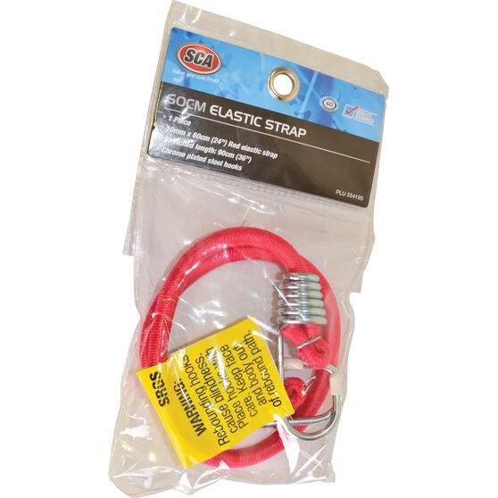SCA Metal Hook Bungee Cord - 60cm, Red, , scaau_hi-res