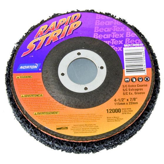 Norton BearTex Rapid Strip Disc Extra Coarse 115mm x 22mm, , scaau_hi-res