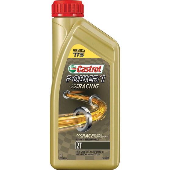 Castrol POWER1 Racing 2T Motorcycle Oil 1 Litre, , scaau_hi-res