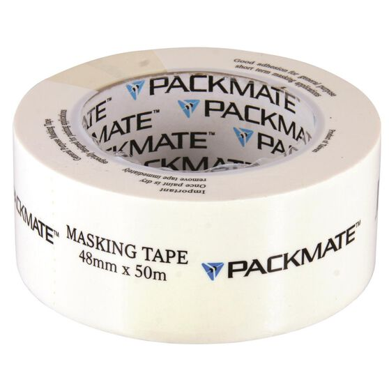 Packmate Masking Tap - 48mm x 50m, , scaau_hi-res