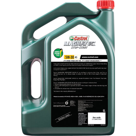 Castrol MAGNATEC Stop-Start Engine Oil 5W-30 A5 6 Litre, , scaau_hi-res