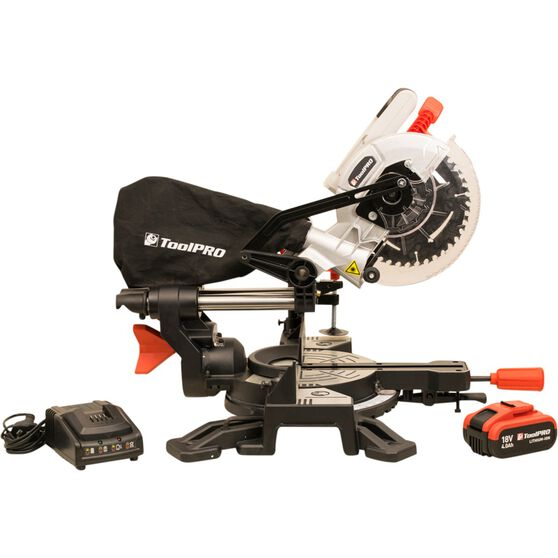 ToolPRO Sliding Compound Mitre Saw - 185mm, 18V, , scaau_hi-res