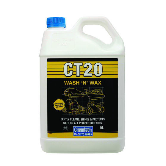 Chemtech CT20 Wash & Wax - 5 Litre, , scaau_hi-res