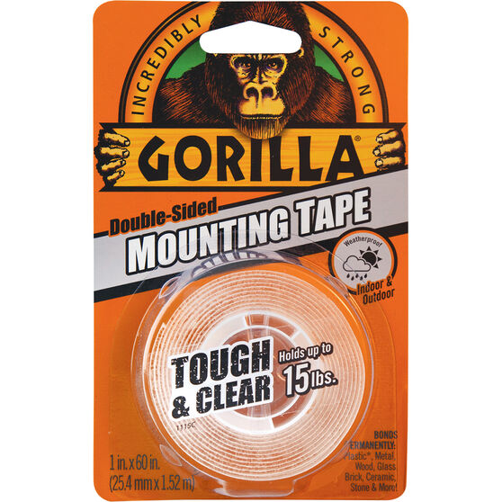 Gorilla Clear Mounting Tape - 1.52m x 25mm, , scaau_hi-res