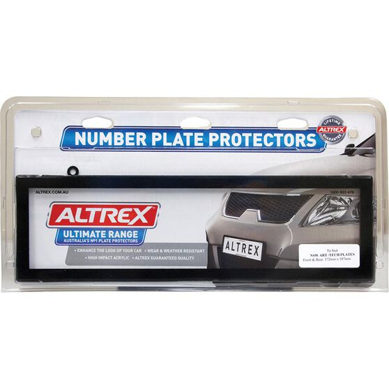 Altrex Number Plate Protector 6 Figure Nsw Clear