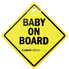 Cabin Crew Kids Baby on Board Sign, , scaau_hi-res