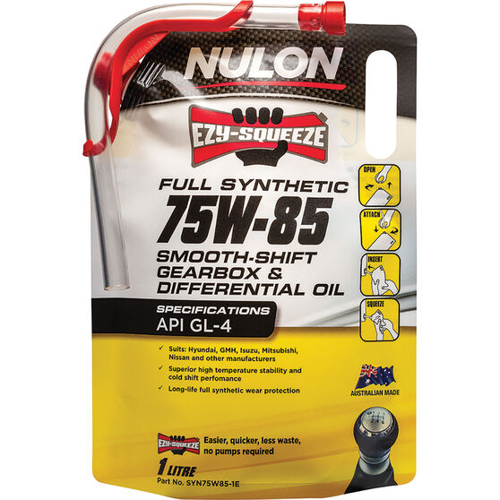 Nulon EZY-SQUEEZE Smooth Shift Gearbox & Differential Oil 75W-85 1 Litre, , scaau_hi-res