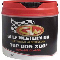 Gulf Western Top Dog XDO Diesel Engine Oil - 15W-40 10 Litre, , scaau_hi-res