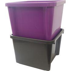 SCA Plastic Storage Bin - Charcoal, 30 Litre, , scaau_hi-res
