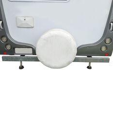 Caravan Spare Wheel Cover - 27, White, , scaau_hi-res