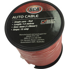 SCA Super Force Auto Cable - 7.5m, 4mm, Low Tension, Red, , scaau_hi-res