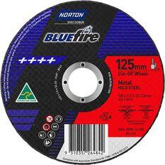 Norton Metal Cut off Disc - 125mm x 2.5mm x 22mm, , scaau_hi-res