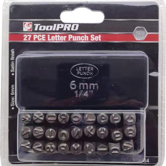 ToolPRO Letter Punch Set - 6mm, , scaau_hi-res