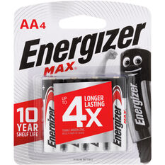 Energizer Max AA Batteries - 4 Pack, , scaau_hi-res