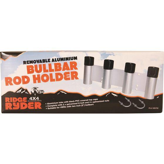 Ridge Ryder Bullbar Rod Holder - Aluminium 4 Rod, , scaau_hi-res