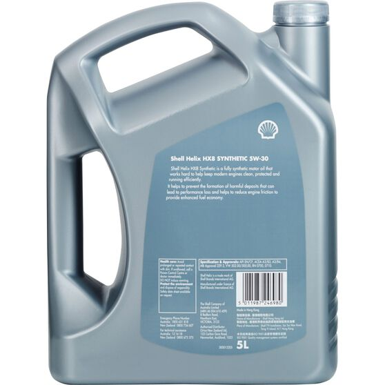 Shell Helix HX8 Engine Oil 5W-30 5 Litre, , scaau_hi-res