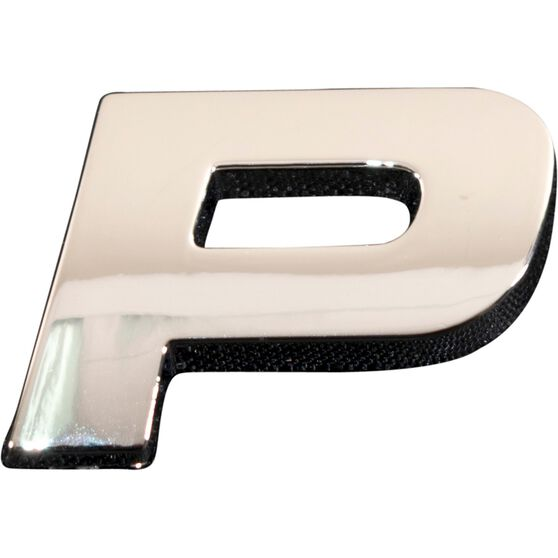 SCA 3D Chrome Badge Letter P, , scaau_hi-res