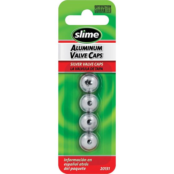 Slime Valve Caps - Anodized, Silver, 4 Piece, , scaau_hi-res