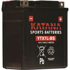 Katana Powersports Battery YTX7L-BS, , scaau_hi-res