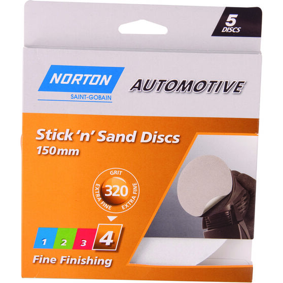 Norton Sticky Disc 320 Grit 5 Pack, , scaau_hi-res