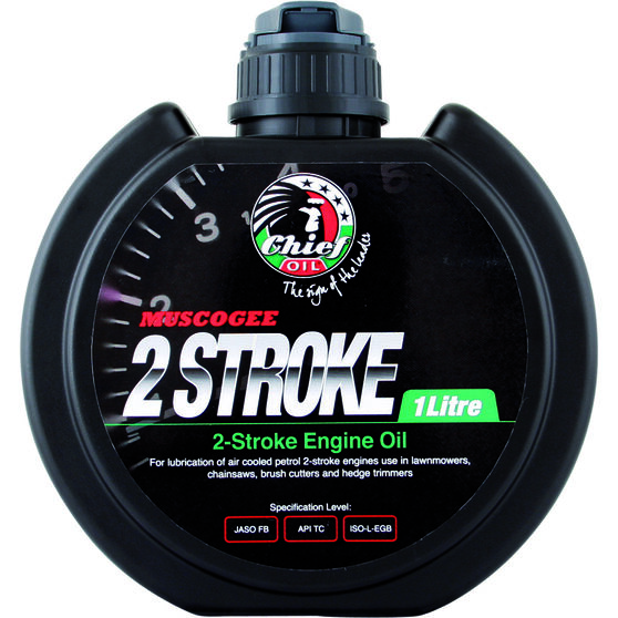 Chief Muscogee 2 Stroke Small Engine Oil - 1 Litre, , scaau_hi-res