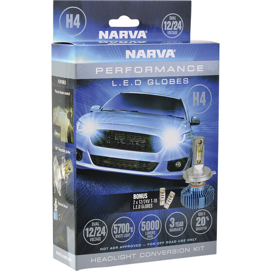 Narva LED Headlight Conversion Kit H4 12/24V, , scaau_hi-res