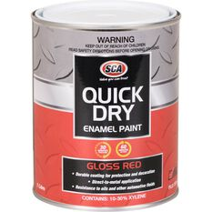 Quick Dry Enamel Red 1 Litre, , scaau_hi-res