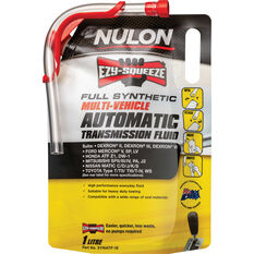 Nulon EZY-SQUEEZE Multi-Vehicle Full Synthetic Automatic Transmission Fluid 1 Litre, , scaau_hi-res