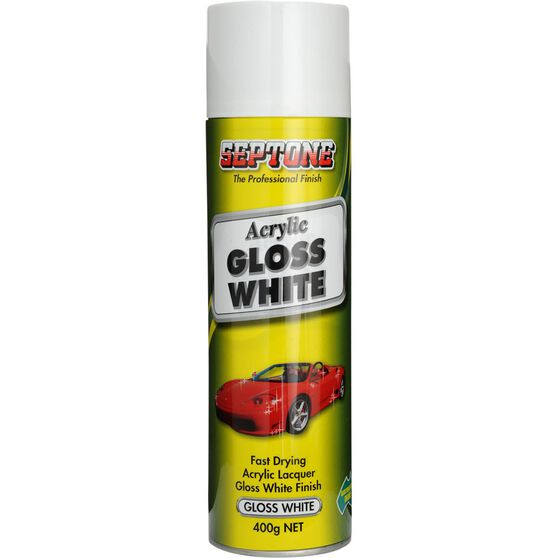 Septone Acrylic Paint Gloss White 400g, , scaau_hi-res