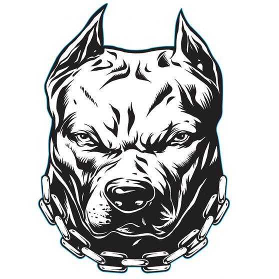 Hot Stuff Sticker - Pitbull - Back Off , Vinyl, , scaau_hi-res
