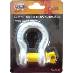 SCA Bow Shackle - Rated to 2000kg, Galvanised, 13mm, , scaau_hi-res
