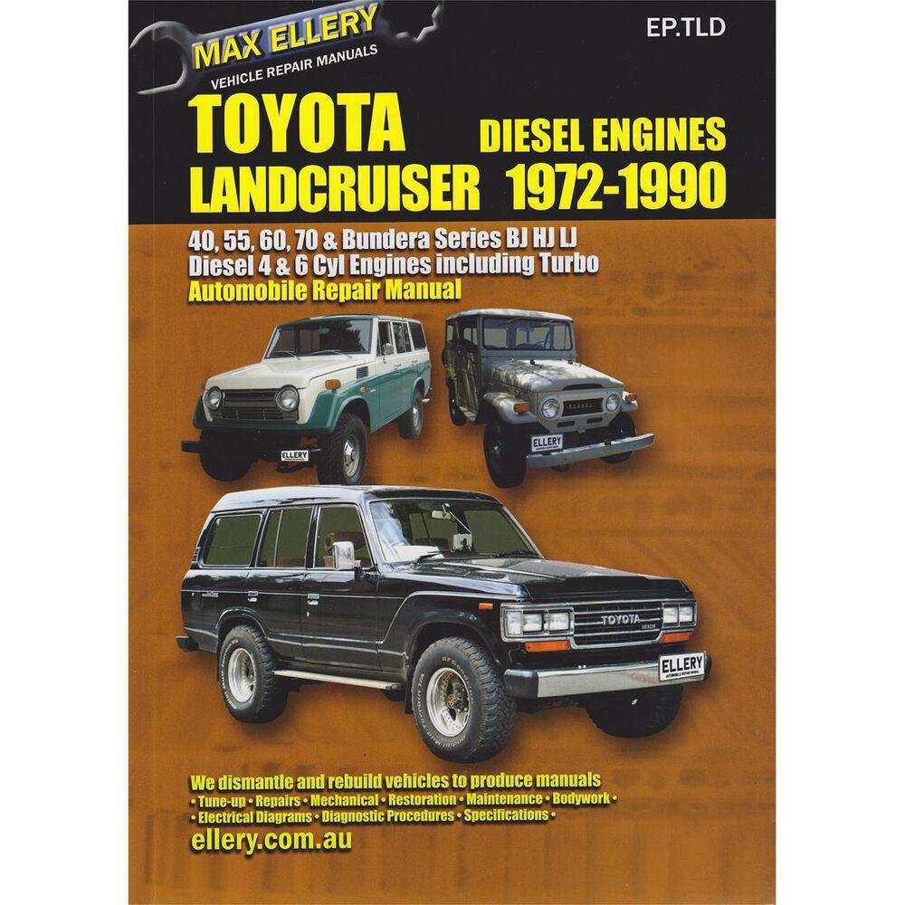 Max Ellery Car Manual For Toyota Landcruiser Diesel 1972 1990 Ep Wiring Diagram Land Cruiser Eptld Supercheap Auto