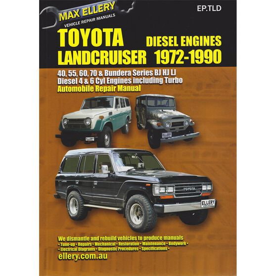 Max Ellery Car Manual For Toyota Landcruiser Diesel 1972 1990 Ep
