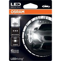 Osram Interior Globe LED - 12V, 31mm, Cool White, , scaau_hi-res