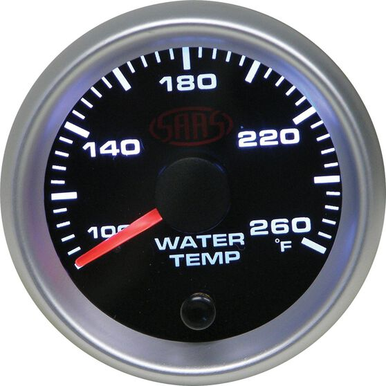 SAAS Water Temperature Gauge - Black, 52mm, , scaau_hi-res