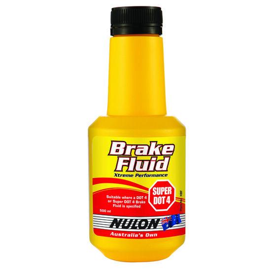 Nulon Xtreme Performance Brake Fluid Super DOT 4 - 500mL, , scaau_hi-res