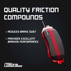 Calibre Disc Brake Pads DB1422CAL, , scaau_hi-res