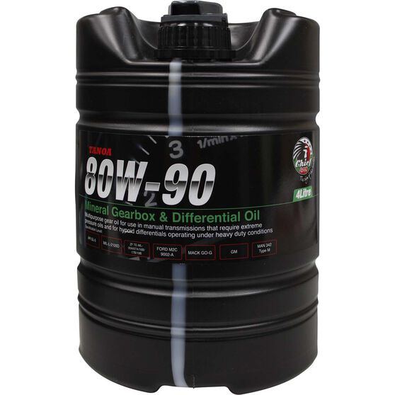 Chief Tanoa Gear Oil - 80W-90, 4 Litre, , scaau_hi-res