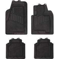 Semi-Tailored Rubber Floor Mats SUV Black Set of 4, , scaau_hi-res