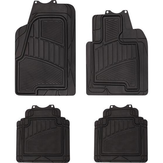 Semi-Tailored Floor Mats SUV Black Set of 4, , scaau_hi-res