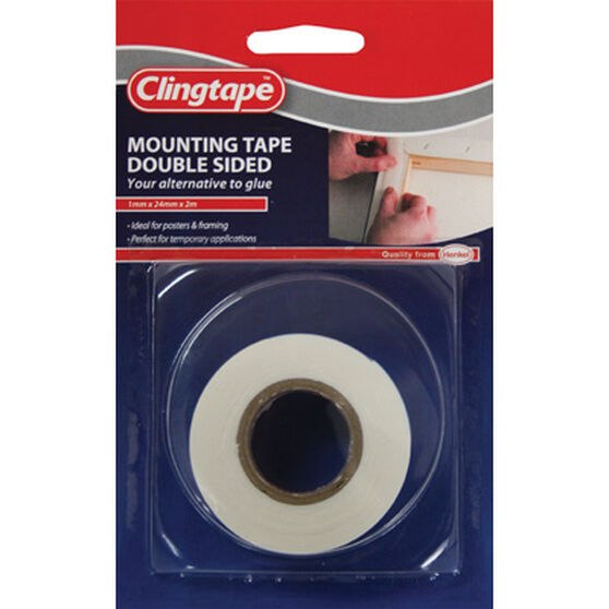 Clingtape Double Sided Tape - Mounting, 24mm x 2m, , scaau_hi-res