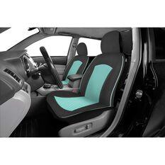 Metallic Print Seat Covers - Mint Green & Black, Adjustable Headrests, , scaau_hi-res