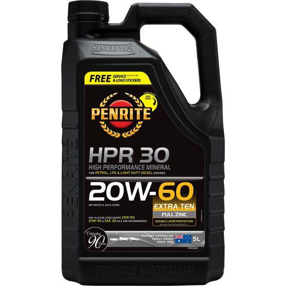 Penrite HPR 30 Engine Oil - 20W-60, 5 Litre, , scaau_hi-res