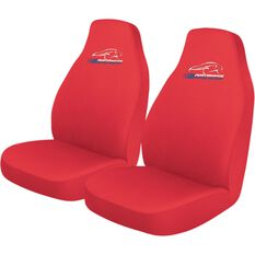 Slip On Seat Covers - Red, Built-in Headrests, Size 60, Slip On, Front Pair, , scaau_hi-res